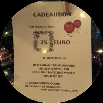 Restaurant De Wijngaerd 2020 SKWINKELtombola Geschenk 1